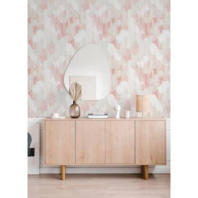 Mahi Blush Abstract Strippable Non Woven Wallpaper