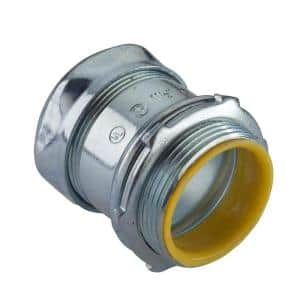 Electrical Metallic Tube (EMT) Compression Connectors 1/2 in. with Insulated Throats (3-Pack)