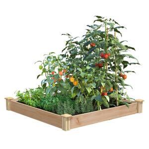 4 ft. x 4 ft. x 5.5 in. Premium Cedar Raised Garden Bed