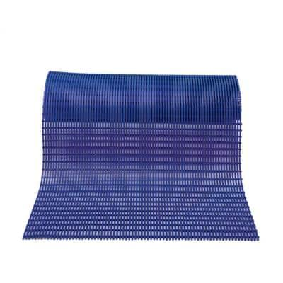 Barepath Oxford Blue 3 ft. x 30 ft. PVC Safety and Comfort Rug Runner