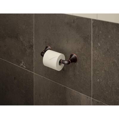 Elm Wall-Mounted Toilet Paper Holder in Seasoned Bronze