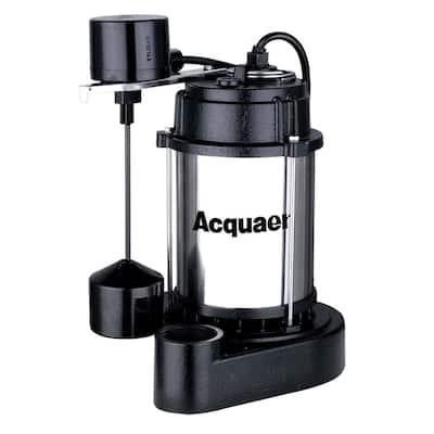 1/3 HP Cast Iron Base Sump Pump