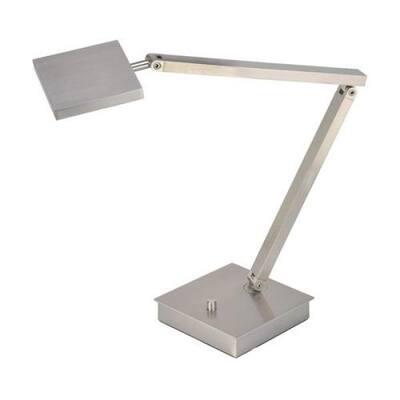 TaskWerx 14 in. Brushed Steel Integrated LED Desk Lamp