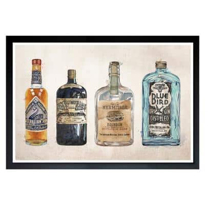 V in.tage Liquors' Framed Drink Art Print 13 in. x 19 in.