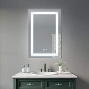 Sevan 24 in. W x 36 in. H Frameless Rectangular Luxury LED Light Bathroom Vanity Mirror