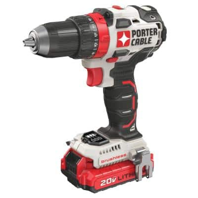 20-Volt MAX Lithium-Ion Brushless Cordless 1/2 in. Drill/Driver with 2 Batteries 1.5 Ah and Charger