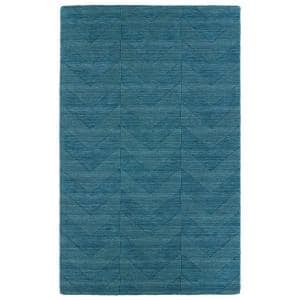 Imprints Modern Turquoise 10 ft. x 14 ft. Area Rug