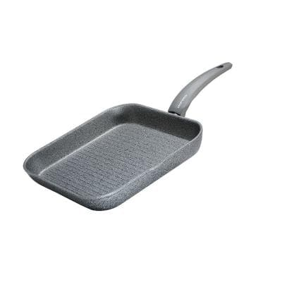 Greystone 11.5 in. Cast Aluminum Nonstick Grill Pan in Grey