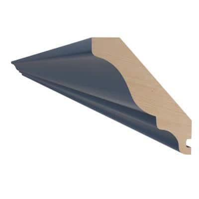 Neptune Blue Painted Plywood Shaker Stock Assembled Wall Kitchen Cabinet Crown Molding 96 in. x 3 in. x 2.5 in.