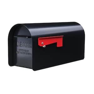 Ironside Large, Steel, Post Mount Mailbox, Black