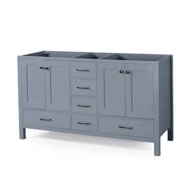 Lyndon 72 in. W x 22 in. D Bath Vanity Cabinet Only in Grey