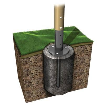 UPlay Today Boulder Point Commercial Playground In-Ground Footers Kit