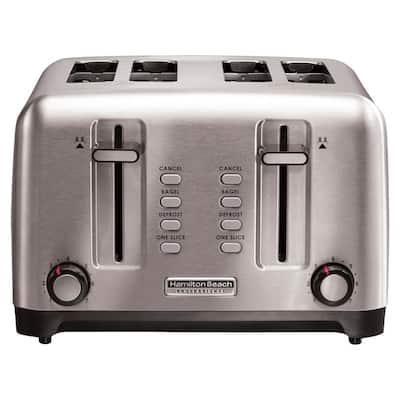1700-Watt 4-Slice Stainless Steel Pro Toaster