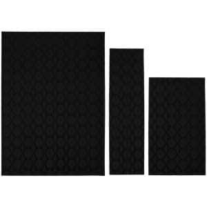 Sparta Black 5 ft. x 7 ft. 3-Piece Rug Set
