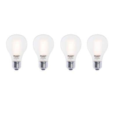 60W Equivalent Warm White Light A19 Dimmable LED Filament Light Bulb (4-Pack)
