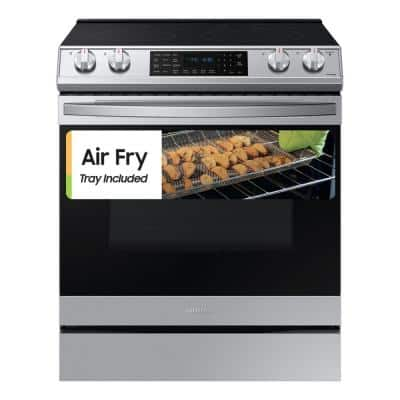 6.3 cu. ft. Slide-In Electric Range with Air Fry Convection Oven in Fingerprint Resistant Stainless Steel