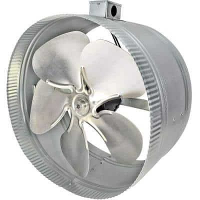 14 in. 4-Pole In-Line Duct Fan with Electrical Box