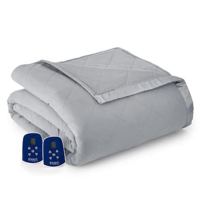 Queen Greystone Electric Heated Comforter/Blanket