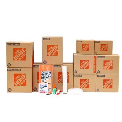 11-Box Master Bedroom Moving Box Kit