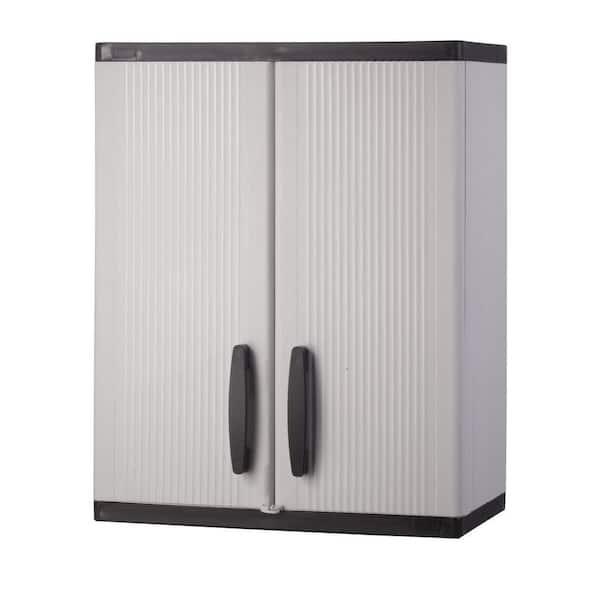 Hdx Plastic Freestanding Garage Cabinet, Plastic Wall Cabinets