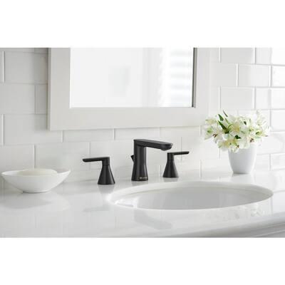 Chianti 8 in. Widespread 2-Handle Bathroom Faucet in Matte Black