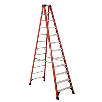 12 ft. Fiberglass Step Ladder (16 ft. Reach Height) with 300 lbs. Load Capacity Type IA Duty Rating