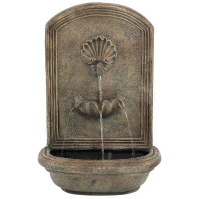 Seaside Florentine Stone Electric Powered Outdoor Wall Fountain