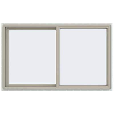 59.5 in. x 35.5 in. V-4500 Series Desert Sand Vinyl Left-Handed Sliding Window with Fiberglass Mesh Screen