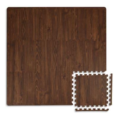 Craftsman Brown 36 in. x 72 in. Interlocking Foam Floor Tiles (Set of 2 - 44 Pieces/18 sq. ft.)