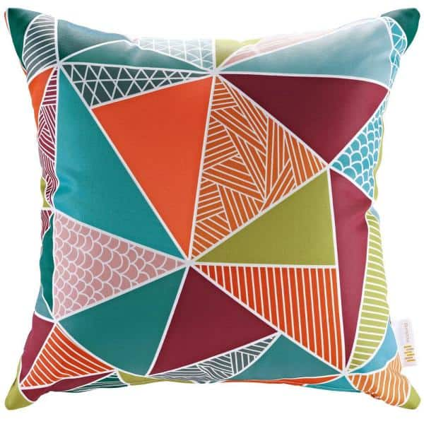 Modway Patio Square Outdoor Throw Pillow Set In Mosaic 2 Piece Eei 2401 Mos The Home Depot