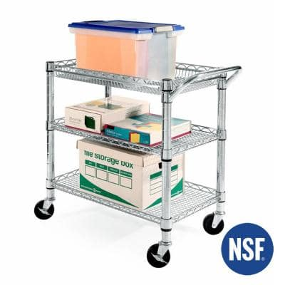 Heavy-Duty Commercial-Grade Utility Cart, NSF Listed