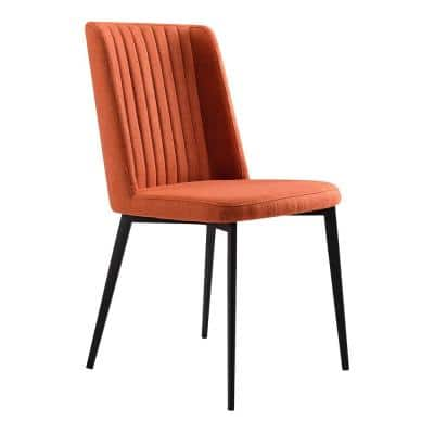 Maine Orange Fabric Dining Chair - Set of 2