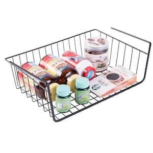Hanging Under Shelf Metal Storage Basket (Set of 2)
