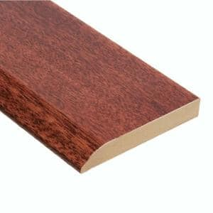 High Gloss Santos Mahogany 1/2 in. Thick x 3 1/2 in. Width x 94 in. Length Wall Base Molding