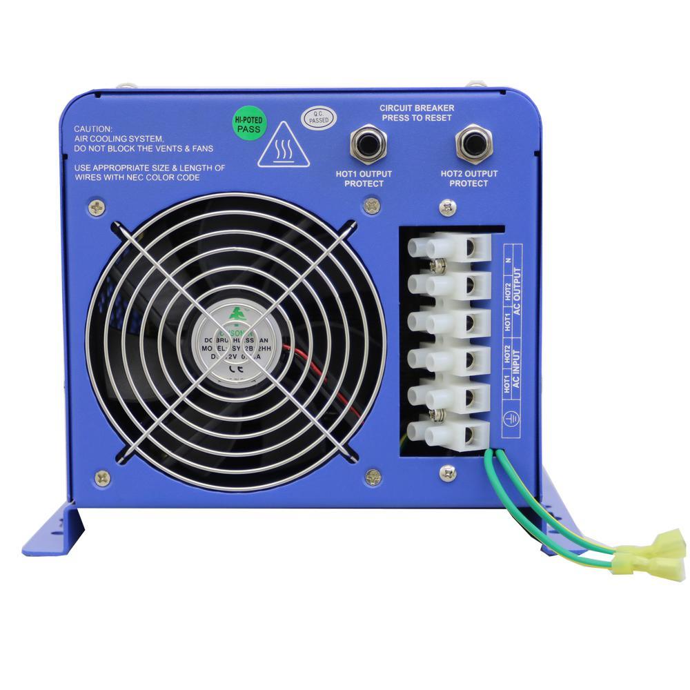 6,000-Watt Pure Sine Inverter Charger 24-Volt DC to 120-Volt/240-Volt AC Split Phase Output