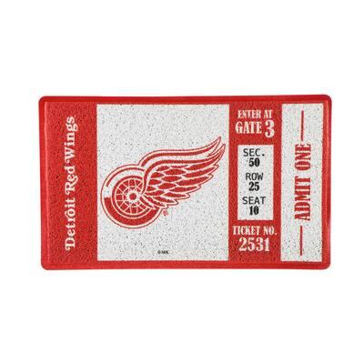 Detroit Red Wings 30 in. x 18 in. Vinyl Indoor/Outdoor Turf Floor Mat