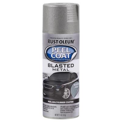 11 oz. Peel Coat Blasted Metal Steel Peelable Rubber Coating Spray Paint (6-Pack)