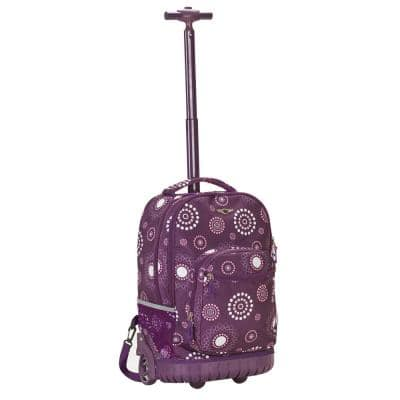 Sedan 19 in. Rolling Backpack, Purplepearl
