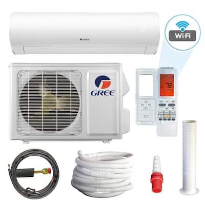 Sapphire 22,000 BTU 2-Ton Wi-Fi Programmable Ductless Mini Split Air Conditioner with Heat Kit - 230-Volt-208-Volt/60Hz