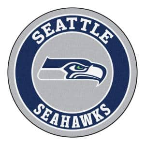 NFL Seattle Seahawks Navy 2 ft. Round Area Rug