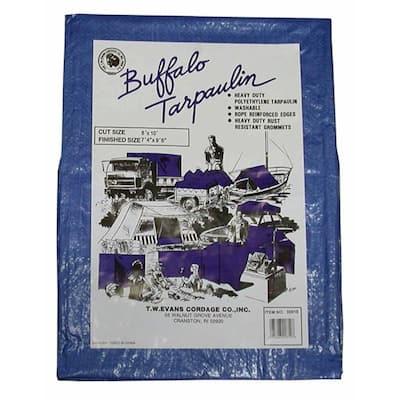 40 ft. x 40 ft. Buffalo Blue Poly Tarp