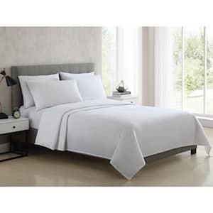 Bedding Sheet Set, Solid - White, 3pc Twin XL