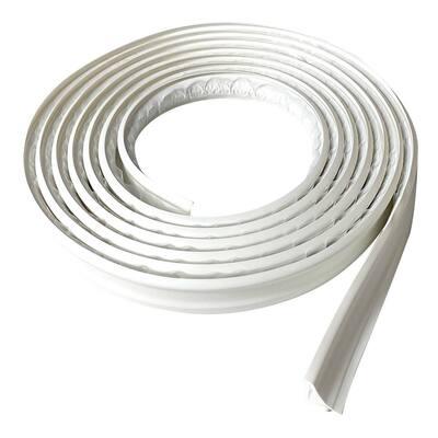 3/4 in. x 10 ft. White PVC Inside Corner Self-adhesive Flexible Caulk and Trim Molding