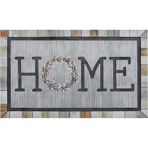 Homestead Wreath Tin 18 in. x 30 in. Doorscapes Mat