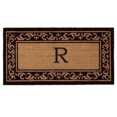 Kendall Monogram Door Mat 24 in. x 48 in. (Letter R)