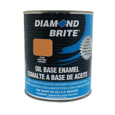 1 qt. Chestnut Oil Base Enamel Interior/Exterior Paint