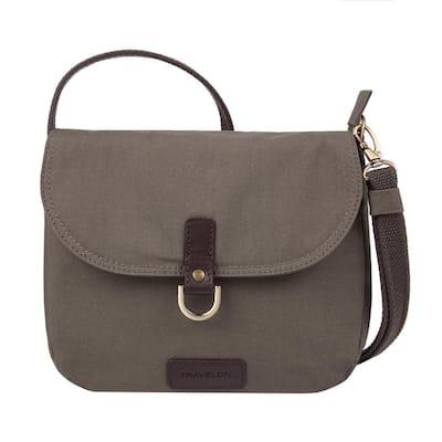 Courier Stone Gray Anti-Theft Saddle Crossbody Bag