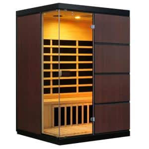 Sirona 3-Person Hemlock Infrared Sauna with 8 Carbon Heaters