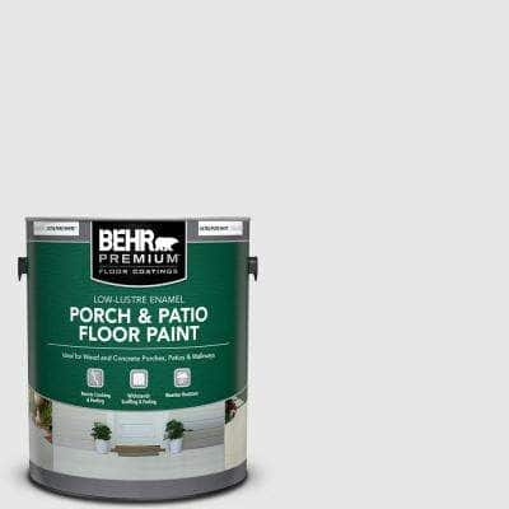 1 gal. #PR-W09 Nimbus Cloud Low-Lustre Enamel Interior/Exterior Porch and Patio Floor Paint