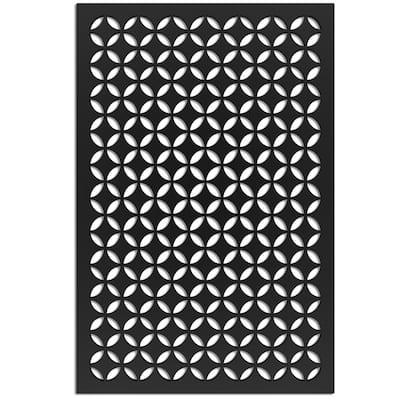 Morrish Circle 32 in. x 4 ft. Black Vinyl Decorative Screen Panel